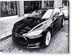 Acrylic Print featuring the photograph Tesla Model S by Olivier Le Queinec