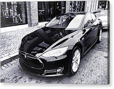 Tesla Model S Acrylic Print