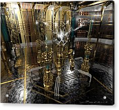 Tesla Power Generator Acrylic Print by James Christopher Hill
