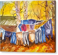 Tess Anne's Laundry Acrylic Print