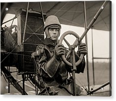 Test Of A Curtiss Plane Circa 1912 Acrylic Print