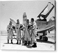 Test Pilots And Northrop Hl-10 Acrylic Print
