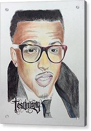Testimony Acrylic Print by Ashley Williams