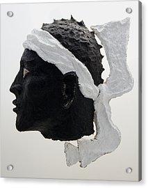Tete De Maure - Papier Mache Acrylic Print by Christian V Stanescu