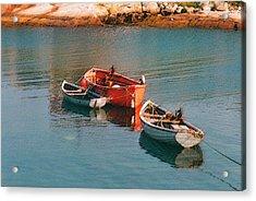 Tethered Rowboats Acrylic Print
