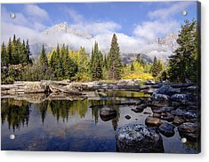 Acrylic Print featuring the photograph Teton Autumn by Jeremy Farnsworth