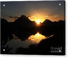 Acrylic Print featuring the photograph Teton Double Star by Clare VanderVeen