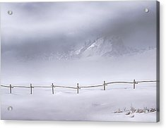 Acrylic Print featuring the photograph Teton Morning by Priscilla Burgers