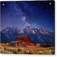 Teton Nights Acrylic Print by Darren  White