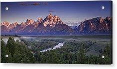 Teton Panorama Acrylic Print by Andrew Soundarajan