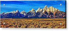 Acrylic Print featuring the photograph Teton Panorama by Benjamin Yeager