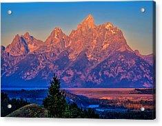 Teton Peaks Acrylic Print