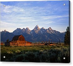 Teton Ranch Autumn Acrylic Print by Mike Norton