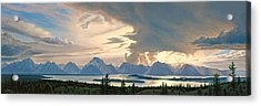 Teton Range From Signal Mountain Acrylic Print