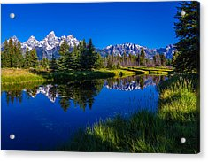 Teton Reflection Acrylic Print by Chad Dutson
