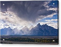 Teton Storm Acrylic Print by Mark Kiver