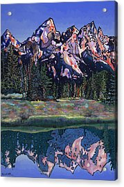 Acrylic Print featuring the painting Teton Summer by Bob Coonts