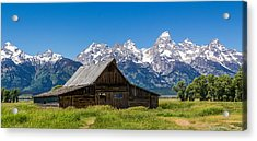 Teton Summer Acrylic Print