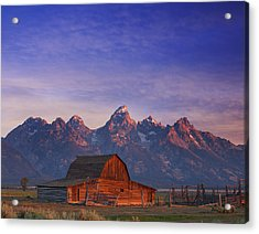 Teton Sunrise Acrylic Print by Darren  White
