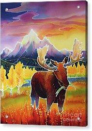 Teton Sunrise Acrylic Print by Harriet Peck Taylor
