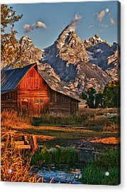 Acrylic Print featuring the photograph Teton Sunrise by Rob Wilson