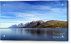 Tetons By The Lake Acrylic Print