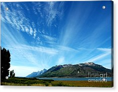 Tetons Sky Acrylic Print by Alan Russo