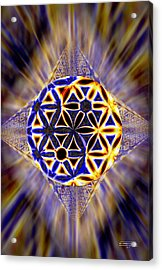 Acrylic Print featuring the drawing Tetra Balance Crystal by Derek Gedney
