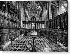 Tewkesbury Abbey Bw Acrylic Print
