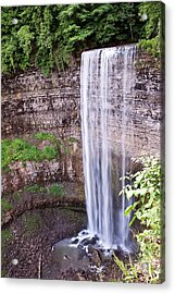 Acrylic Print featuring the photograph Tews Falls In Dundas Ontario by Marek Poplawski