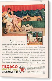Texaco 1929 1920s Usa Cc Oil Gas Petrol Acrylic Print by The Advertising Archives