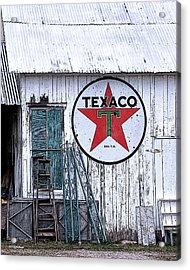 Texaco Times Past Acrylic Print
