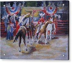Texan Rodeo Acrylic Print by Barbara Pommerenke