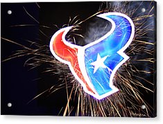Texans Acrylic Print by Andrew Nourse