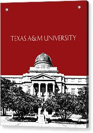 Texas A And M University - Dark Red Acrylic Print by DB Artist
