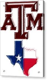 Texas Aggies Acrylic Print