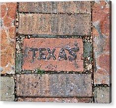 Texas Brick Walkway Acrylic Print by Kathy Peltomaa Lewis