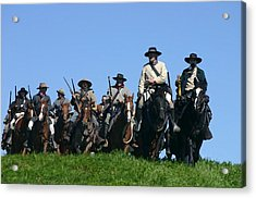 Texas Cavalry Regiment Descending - Perryville Ky Acrylic Print by Thia Stover