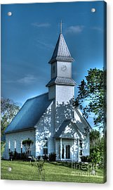 Texas Country Church Acrylic Print by D Wallace