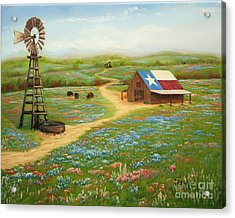 Acrylic Print featuring the painting Texas Countryside by Jimmie Bartlett