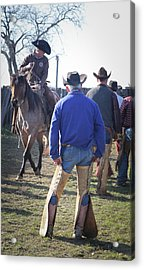 Texas Cowboy Acrylic Print by Diane Bohna
