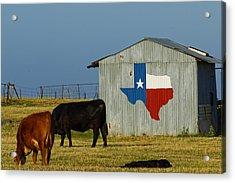 Texas Farm With Texas Logo Acrylic Print