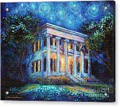 Texas Governor Mansion Painting Acrylic Print by Svetlana Novikova