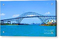 Texas Harbor Bridge Acrylic Print by Tina M Wenger