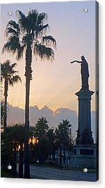 Texas Heros Monument - Galveston Acrylic Print