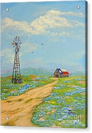 Acrylic Print featuring the painting Texas High Sky by Jimmie Bartlett