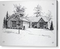 Texas Home 1 Acrylic Print by Hanne Lore Koehler