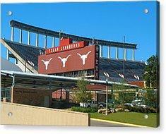 Texas Memorial Stadium - U T Austin Longhorns Acrylic Print by Connie Fox