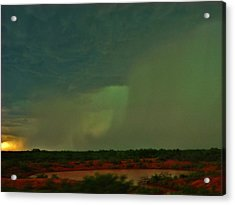 Acrylic Print featuring the photograph Texas Microburst by Ed Sweeney