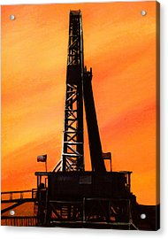 Texas Oil Rig Acrylic Print
